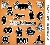 halloween stickers | Shutterstock .eps vector #325466981