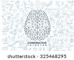 conceptual polygonal brain ... | Shutterstock .eps vector #325468295
