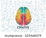 conceptual polygonal brain ... | Shutterstock .eps vector #325468379