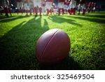 american football on stadium... | Shutterstock . vector #325469504