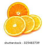 whole orange fruit and his... | Shutterstock . vector #325483739