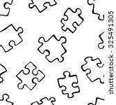 puzzle. pieces of puzzle. black ... | Shutterstock .eps vector #325491305