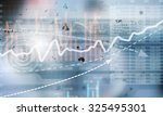 conceptual image with financial ... | Shutterstock . vector #325495301