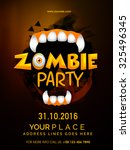 happy halloween  zombie party... | Shutterstock .eps vector #325496345