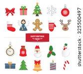 christmas decorative elements... | Shutterstock .eps vector #325500497