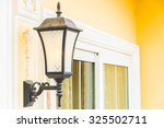 light lamp on wall decoration... | Shutterstock . vector #325502711