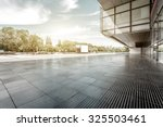 empty  modern square and... | Shutterstock . vector #325503461