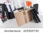 businessman fired  leaving his...   Shutterstock . vector #325505735