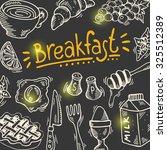 hand drawn breakfast poster...   Shutterstock .eps vector #325512389