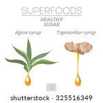 superfoods. healthy sugar. set...   Shutterstock .eps vector #325516349