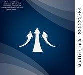 vector growing graph icon | Shutterstock .eps vector #325525784