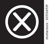 wrong mark icon   Shutterstock .eps vector #325526939