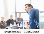 business man making a... | Shutterstock . vector #325528055
