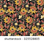 seamless floral beautiful batik ... | Shutterstock . vector #325528805