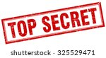 Top Secret Red Square Grunge...