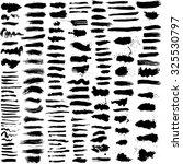 set of 152 hand drawn grunge... | Shutterstock .eps vector #325530797