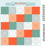 vector christmas advent... | Shutterstock .eps vector #325543535