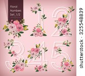 vector illustration of floral... | Shutterstock .eps vector #325548839