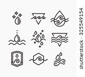 vector line set of water... | Shutterstock .eps vector #325549154