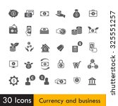 set of currency and business... | Shutterstock .eps vector #325551257