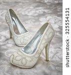 wedding shoes. | Shutterstock . vector #325554131