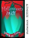 halloween vector flyer | Shutterstock .eps vector #325554179