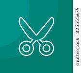 vector scissors line icon | Shutterstock .eps vector #325555679