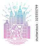 new york downtown cityscape ... | Shutterstock .eps vector #325555799