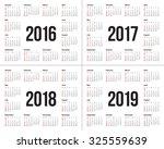simple calendar for 2016 2017... | Shutterstock .eps vector #325559639