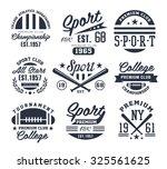set of monochrome sport emblems ...   Shutterstock .eps vector #325561625