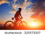 Mountain Bicycle Rider On The...