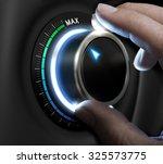 man fingers setting a... | Shutterstock . vector #325573775
