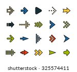 outline icons thin flat design  ... | Shutterstock .eps vector #325574411
