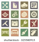 auto service icons | Shutterstock .eps vector #325580915