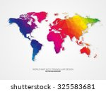 world map background in... | Shutterstock .eps vector #325583681