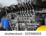 engine details in perspective.... | Shutterstock . vector #325588505