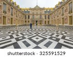 Small photo of Paris, France - June 18, 2015 : Versailles Palace in Paris, France. a symbol of the system of absolute monarchy of the Ancien Régime.