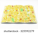 street map with gps icons | Shutterstock . vector #325592279
