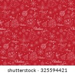 seamless merry christmas... | Shutterstock .eps vector #325594421