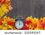 autumn leaves background ... | Shutterstock . vector #325595297