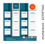 calendar 2016 vector flat...