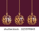 happy new year graphic elements ... | Shutterstock .eps vector #325599845
