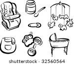various baby items 2 | Shutterstock . vector #32560564