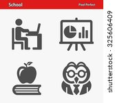 school icons. professional ... | Shutterstock .eps vector #325606409