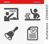 school icons. professional ... | Shutterstock .eps vector #325606415