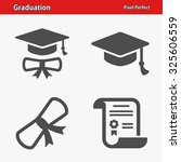 graduation icons. professional  ... | Shutterstock .eps vector #325606559