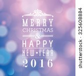 vector merry christmas and... | Shutterstock .eps vector #325608884