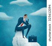 contemplate. business... | Shutterstock . vector #325612094
