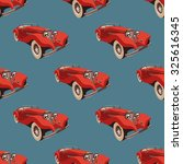 seamless pattern with retro ... | Shutterstock .eps vector #325616345