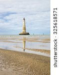Small photo of view of the historical lighthouse of Cordouan at low tide, Gironde estuary, France